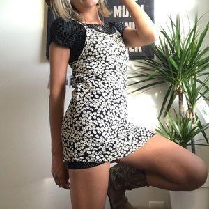 Polka dot & sunflower Print Feminine Dress